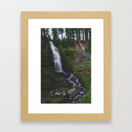Obsidian Falls - Pacific Crest Trail, Oregon Framed Art Print