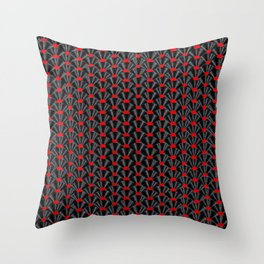 Covered in Vinyl / Vinyl records arranged in scale pattern Throw Pillow