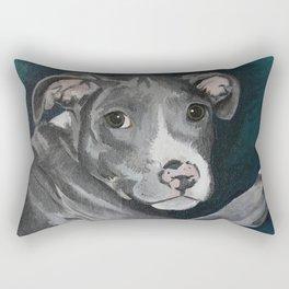 Pluto the Pitbull Rectangular Pillow