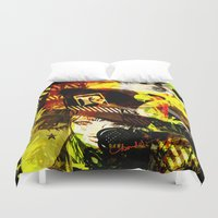 hat Duvet Covers featuring RAD HAT  by Chandelina