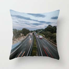 Traffic in motion Throw Pillow