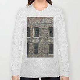 Chicago Windows, Old Building in Chicago Long Sleeve T-shirt