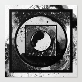 Abstract Geometric Studies In Black And White Canvas Print