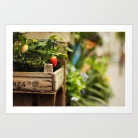 strawberry Art Prints featuring Strawberry by Nina's clicks