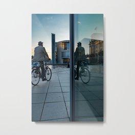 biking Metal Print