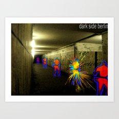 Dark side Berlin Art Print