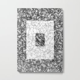 Black and white marble texture 3 Metal Print