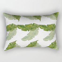 Banana leaf watercolor pattern Rectangular Pillow