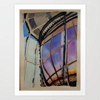 Sunset on the Lighthouse Lens Art Print
