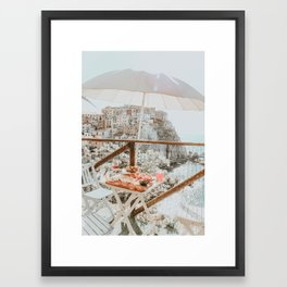 LUNCH WITH A VIEW Framed Art Print