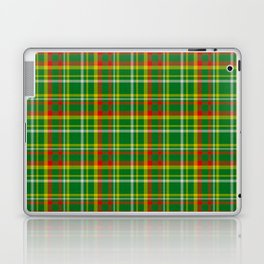 Green Red Yellow and White Plaid Laptop & iPad Skin