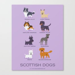 SCOTTISH DOGS Canvas Print