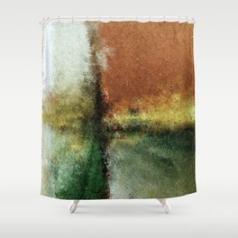 Focal Point Earth Tone Digital Painting Shower Curtain