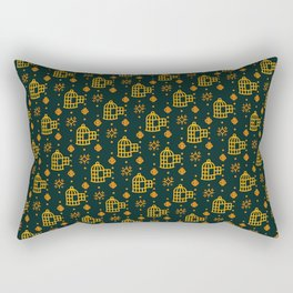 Gold Hand Birdcage Rectangular Pillow