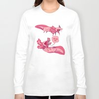 musa Long Sleeve T-shirts featuring axololtls by musa