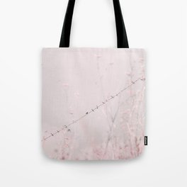 Birds on a wire II Tote Bag
