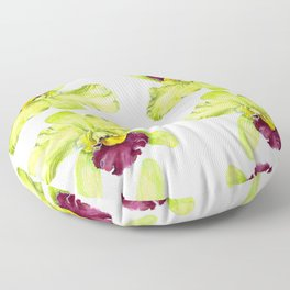 Magenta & Green Cattleya Orchid Floor Pillow