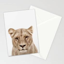 Lioness Print Stationery Cards