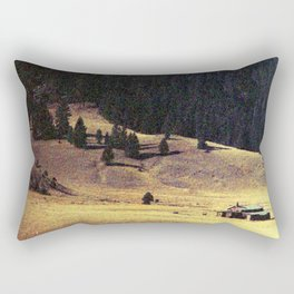 Abandoned Building in the Hills of Bandelier Rectangular Pillow