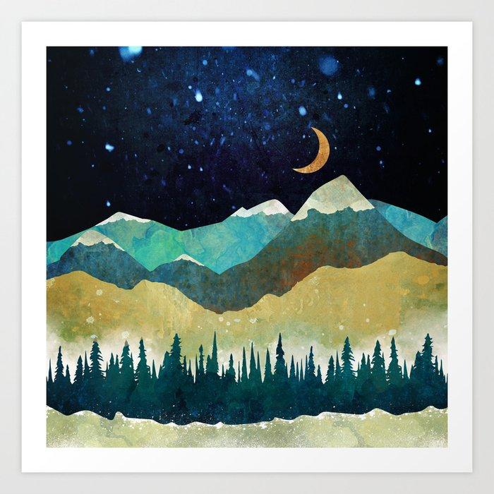 Snowy Night Kunstdrucke