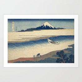 Hokusai Katsushika -  The Tama River In Musashi Province Art Print