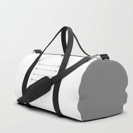 Minimal Dark Gray Arrows Duffle Bag