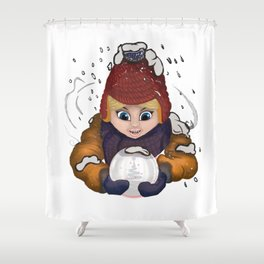 day of snow Shower Curtain