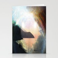 stay gold Stationery Cards featuring stay gold by Kiki collagist