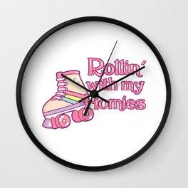 Rollin Roller Skater Gift Print Roller Skating Skater Product Wall Clock