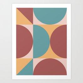 Mid Century Modern Geometric Abstract 232 Art Print