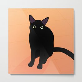 Cafe Kitty Metal Print