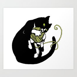 Cats&Yarn - Black Butler Art Print