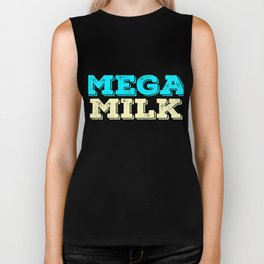 "Looking and craving for a ""Mega Milk"" Wear it anytime with this simple and fantastic tee! Biker Tank"