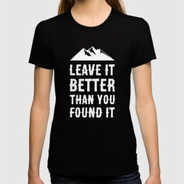 Leave It Better Than You Found It - Mountain Edition T-shirt