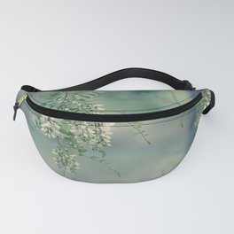 White Spring Blossoms Fanny Pack