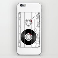 cassette iPhone & iPod Skins featuring Cassette by T.K.O.