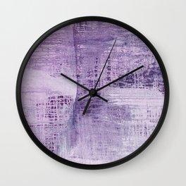 Dreamscape in Purple Wall Clock