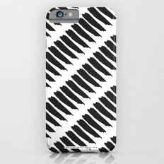 Black and White Tiger Stripes iPhone 6s Slim Case