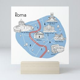 Mapping Roma - Original Mini Art Print