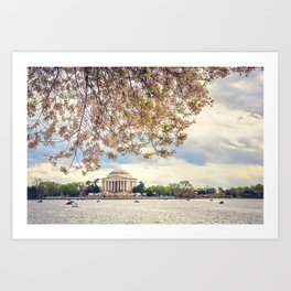 Jefferson Memorial and Cherry Blossoms Art Print