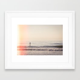 Vintage Paddler Framed Art Print