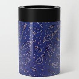 Yer a Wizard - Blue + Bronze Can Cooler