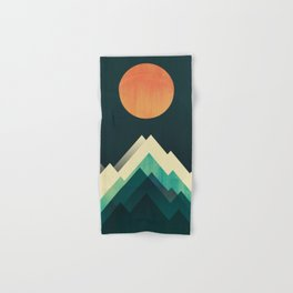 Ablaze on cold mountain Hand & Bath Towel
