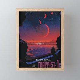 NASA Retro Space Travel Poster #13 - TRAPPIST-1e Framed Mini Art Print