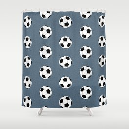 Soccer pattern great decor print for nursery boys or girls rooms sports theme Shower Curtain