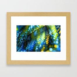 light green yellow bokeh abstract Framed Art Print