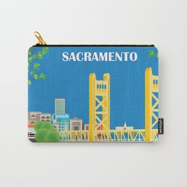 Sacramento, California - Skyline Illustration by Loose Petals Carry-All Pouch