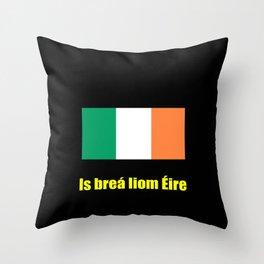 flag of ireland 8 -ireland,eire,airlann,irish,gaelic,eriu,celtic,dublin,belfast,joyce,beckett Throw Pillow