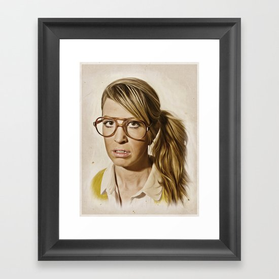 i.am.nerd. : Lizzy Framed Art Print