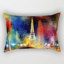 One Night At The Eiffel Tower - Paris Rectangular Pillow
